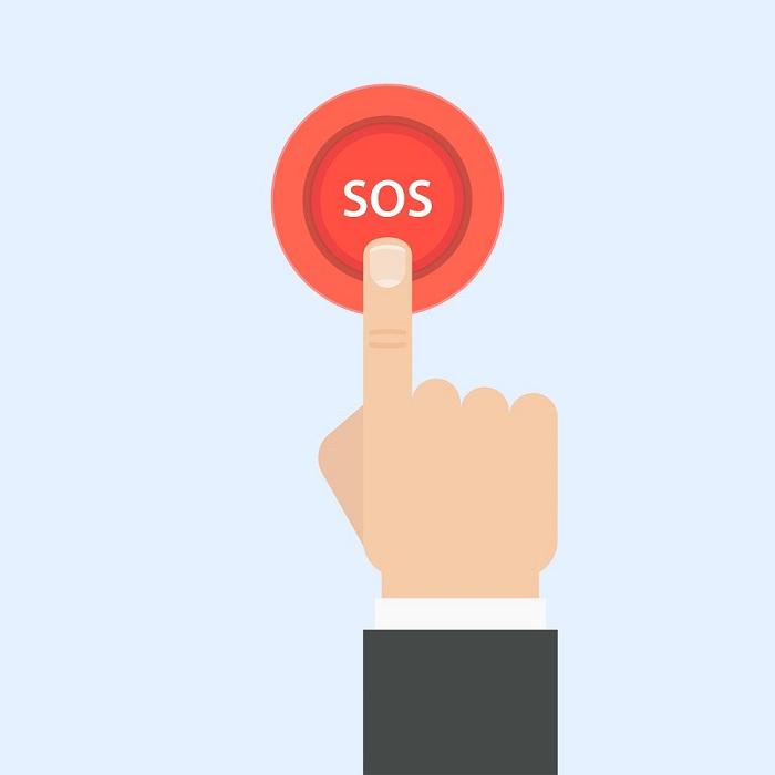 Bouton d'appel - SOS - Téléassistance
